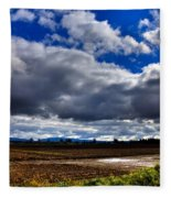 Mount Vernon Farmland - Washington State Fleece Blanket
