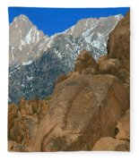 Mount Whitney, Lone Pine, California Fleece Blanket