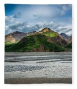 Mountain Across The River Fleece Blanket
