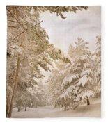 Mountain Adventure In The Snow Fleece Blanket