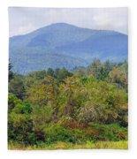 Mountain And Valley Near Brevard Fleece Blanket