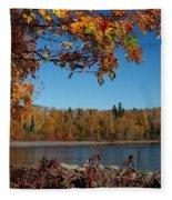 Mountain Ash In Autumn Fleece Blanket