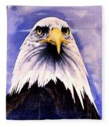 Mountain Bald Eagle Fleece Blanket