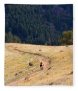 Mountain Biker Fleece Blanket