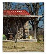 Mountain Cabin In Tennessee 1 Fleece Blanket