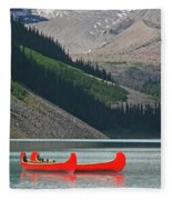Mountain Canoes Fleece Blanket