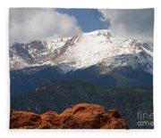 Mountain Clouds Fleece Blanket