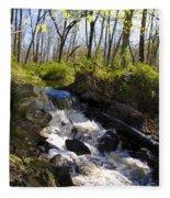 Mountain Creek In Spring Fleece Blanket