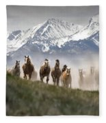 Mountain Dust Storm Fleece Blanket