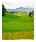 Mountain Golf Fleece Blanket
