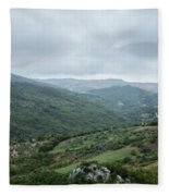 Mountain Landscape Of Italy Fleece Blanket