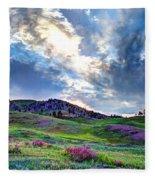 Mountain Meadow Of Flowers Fleece Blanket