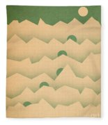 Mountain Moon Rising Fleece Blanket