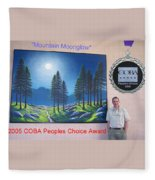 Mountain Moonglow Mural Fleece Blanket