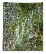 Mountain Moss Lichens And Fungi Fleece Blanket