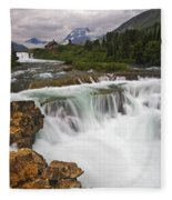 Mountain Paradise Fleece Blanket