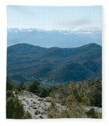 Mountain Range, White Mountains Fleece Blanket