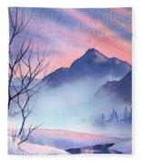 Mountain Silhouette Fleece Blanket