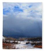 Mountain Snow Coming  Fleece Blanket