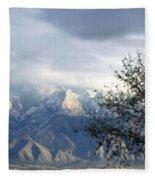 Mountain Snow Storm Fleece Blanket