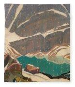 Mountain Solitude Fleece Blanket