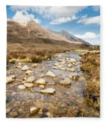 Mountain Stream From Beinn Eighe Fleece Blanket