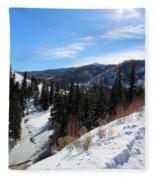 Mountain Sun Fleece Blanket