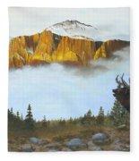 Mountain Sunrise Echoes Fleece Blanket