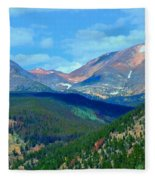 Mountain Top Color Fleece Blanket