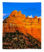 Mountain View Sedona Arizona Fleece Blanket