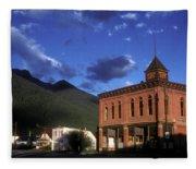 Mountain Village Fleece Blanket