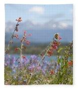 Mountain Wildflowers Fleece Blanket