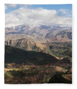 Mountains Along N9, Al Haouz Fleece Blanket