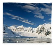 Mountains And Glaciers, Paradise Bay Fleece Blanket