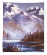 Mountains And Inlet Fleece Blanket