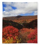 Mountains At Graveyard Fields Fleece Blanket