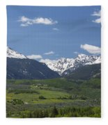 Mountains Co Grouse - New York 2 Fleece Blanket