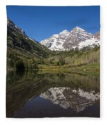 Mountains Co Maroon Bells 16 Fleece Blanket