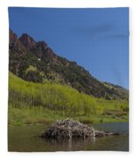 Mountains Co Maroon Lake 4 Fleece Blanket