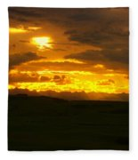 Mountains In The Distance  Fleece Blanket