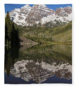 Mountains Maroon Bells 11 Fleece Blanket