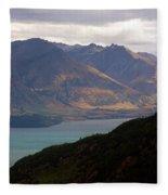 Mountains Meet Lake #4 Fleece Blanket