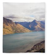 Mountains Meet Lake #5 Fleece Blanket
