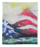 Mountains Of Freedom Two Fleece Blanket