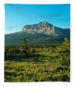 Mountains Of Many Glacier Fleece Blanket