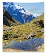 Mountains Of New Zealand Fleece Blanket