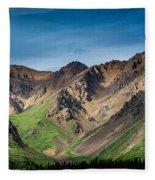 Mountainside Foliage Fleece Blanket