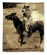 Mounted Shooting Fleece Blanket