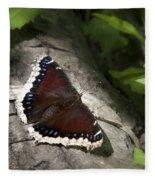 Mourning Cloak Butterfly Fleece Blanket