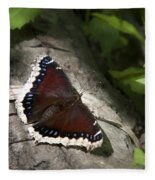 Mourning Cloak Butterfly Fleece Blanket